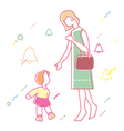 relationship between mother and daughter vector image vector image