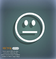 Sad face Sadness depression icon symbol on the vector image vector image