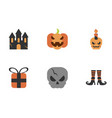 set icons trick or treat happy halloween vector image vector image