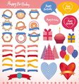 Set of vintage elements birthday holiday party vector image vector image