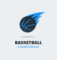 silhouette of basketball ball basketball logo vector image