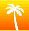 simple palm tree silhouette vector image vector image