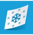 Snowflakes sticker vector image vector image