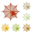 Spider on web Colorful autumn set of vector image vector image