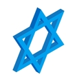 Star of David isometric 3d icon vector image