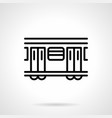 subway train black simple line icon vector image vector image