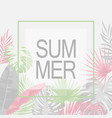 summer trendy tropical leaf design vector image vector image