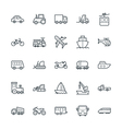 Transport Cool Icons 1 vector image vector image