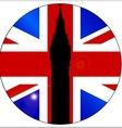 Union Jack Button vector image