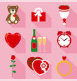 valentine symbols set vector image