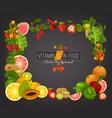 vitamin c background vector image vector image
