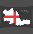 west midlands county map england uk with english vector image vector image