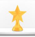 winner star cup award golden trophy logo isolated vector image vector image