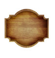 wooden sign isolated vector image