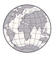 World map globe sketch