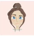 Young girl face vector image