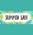 summer sale tropical style vector image