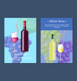 white wine poster with text on vector image