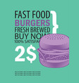 banner with super cheeseburger and text vector image