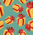 Gift boxes Seamless pattern background for vector image