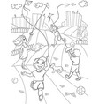 children coloring game kite flying vector image