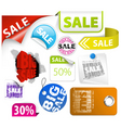set of colorful discount elements vector image