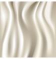 White silk fabric texture vector image