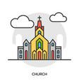church icon chapel building concept vector image
