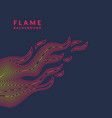modern poster with the flame from lines in vector image