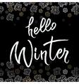 Winter callygraphy design vector image