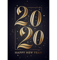 2020 happy new year greeting card vector image vector image