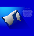 abstract map of brunei darussalam with long vector image vector image