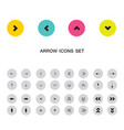 Arrow sign icon buttons set