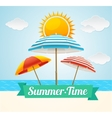 Beach Umbrella Summer Card vector image vector image