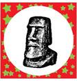 black 8-bit moai statues in the rano raraku vector image vector image