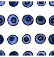 blueberry seamless doodle style design vector image vector image