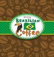 Brazilian coffee background vector image