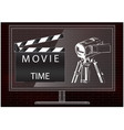 camera and movie clapperboard vector image vector image