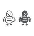 chicken line and glyph icon animal and bird vector image vector image