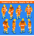 Construction 02 People Isometric vector image vector image