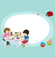 creative kids frame banner vector image