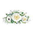 floral cream yellow flowers greenery bouquet vector image vector image