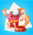 funny cute crazy cartoon characters cat vector image