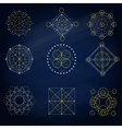 Geometry signs in the blue background vector image vector image