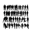 graduation and activity people silhouettes vector image