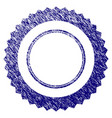 grunge textured rosette seal frame vector image vector image