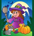 halloween character scene 4 vector image