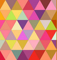 Happy triangle mosaic background design vector image vector image