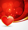 heart background design vector image