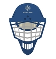hockey helmet icon vector image vector image